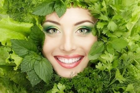 Groene bladgroente goed voor de huid